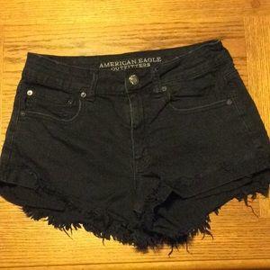American Eagle HiRise Festival black shorts size 8